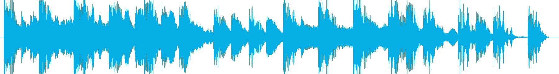 着信コールサイン電話ループ設定の再生済みの波形