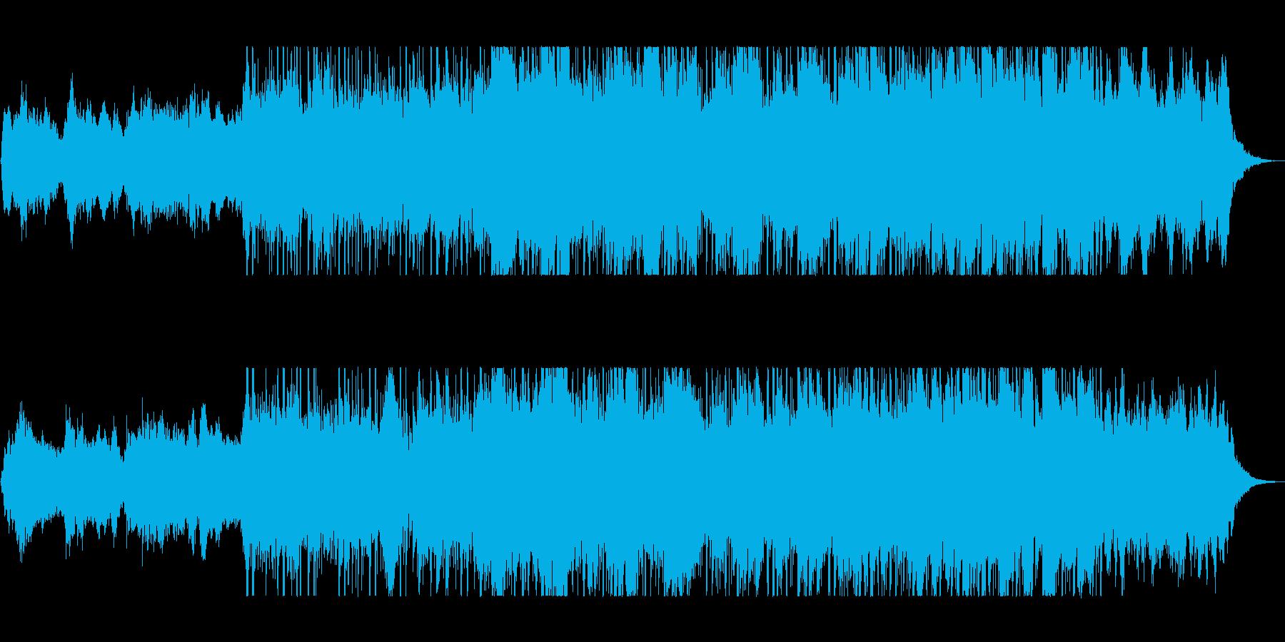 ピアノが幻想的な近未来風BGMの再生済みの波形