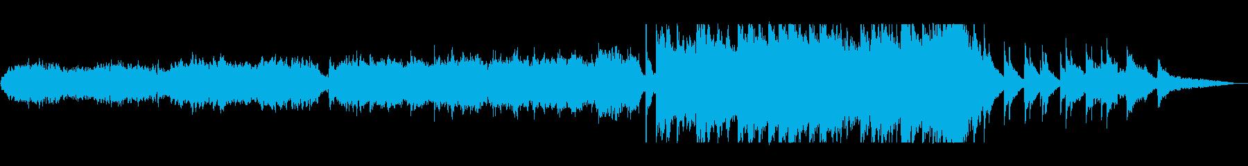 ハープの音が落ち着きを与えてくれる曲の再生済みの波形