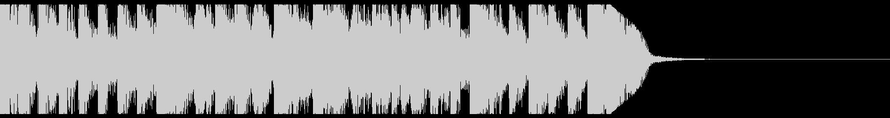 レイブ、ドラムンベースなジングルの未再生の波形