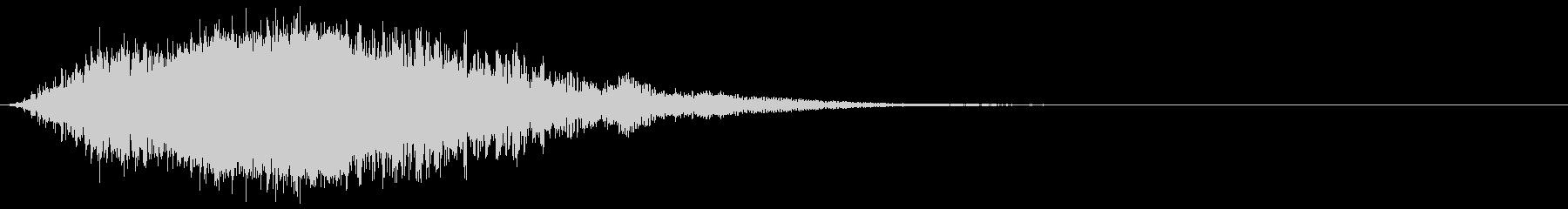 迫力の瞬間移動:ワープする音の未再生の波形