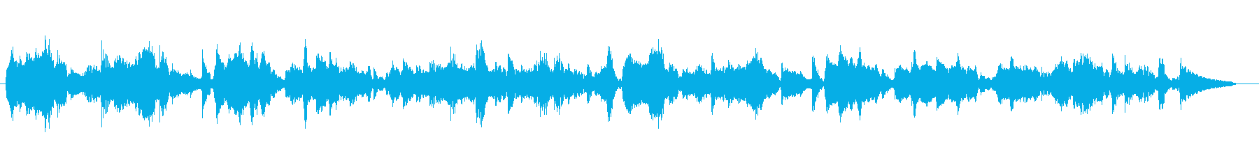 ハミングで生演奏のボサノヴァの再生済みの波形