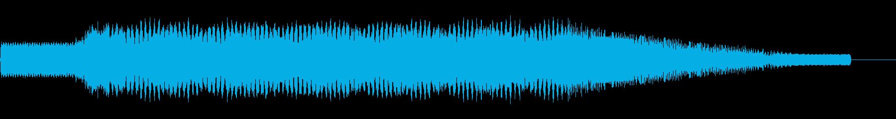 レーザー/コンピューター上下1の再生済みの波形