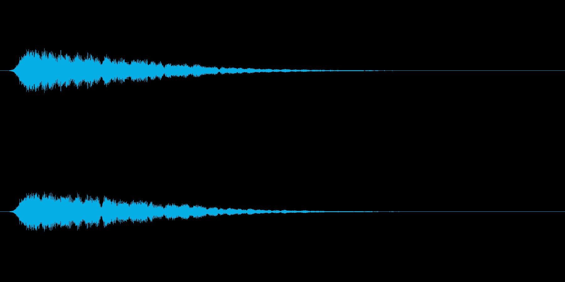 【ショートブリッジ23-1】の再生済みの波形