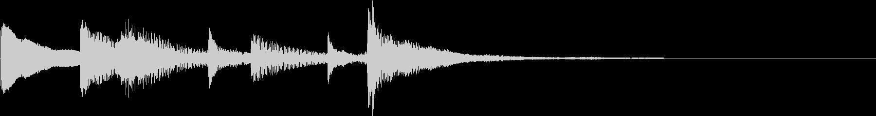 マリンバののほほんチャイムの未再生の波形