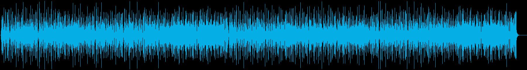 ファンキーでリズミカルなオルガンインストの再生済みの波形
