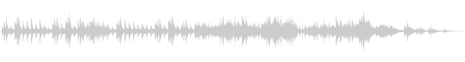 アメイジンググレイスを生ピアノの響きでの未再生の波形