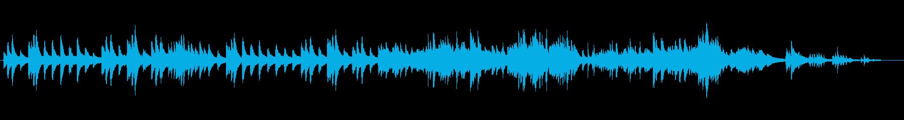 アメイジンググレイスを生ピアノの響きでの再生済みの波形
