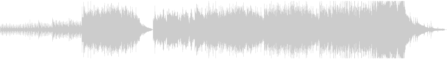 しっとりと厳かな和風ピアノBGMの未再生の波形