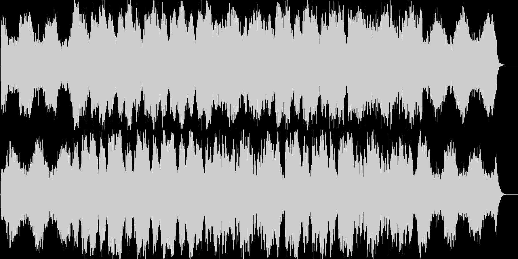 透明のある優しいBGMの未再生の波形