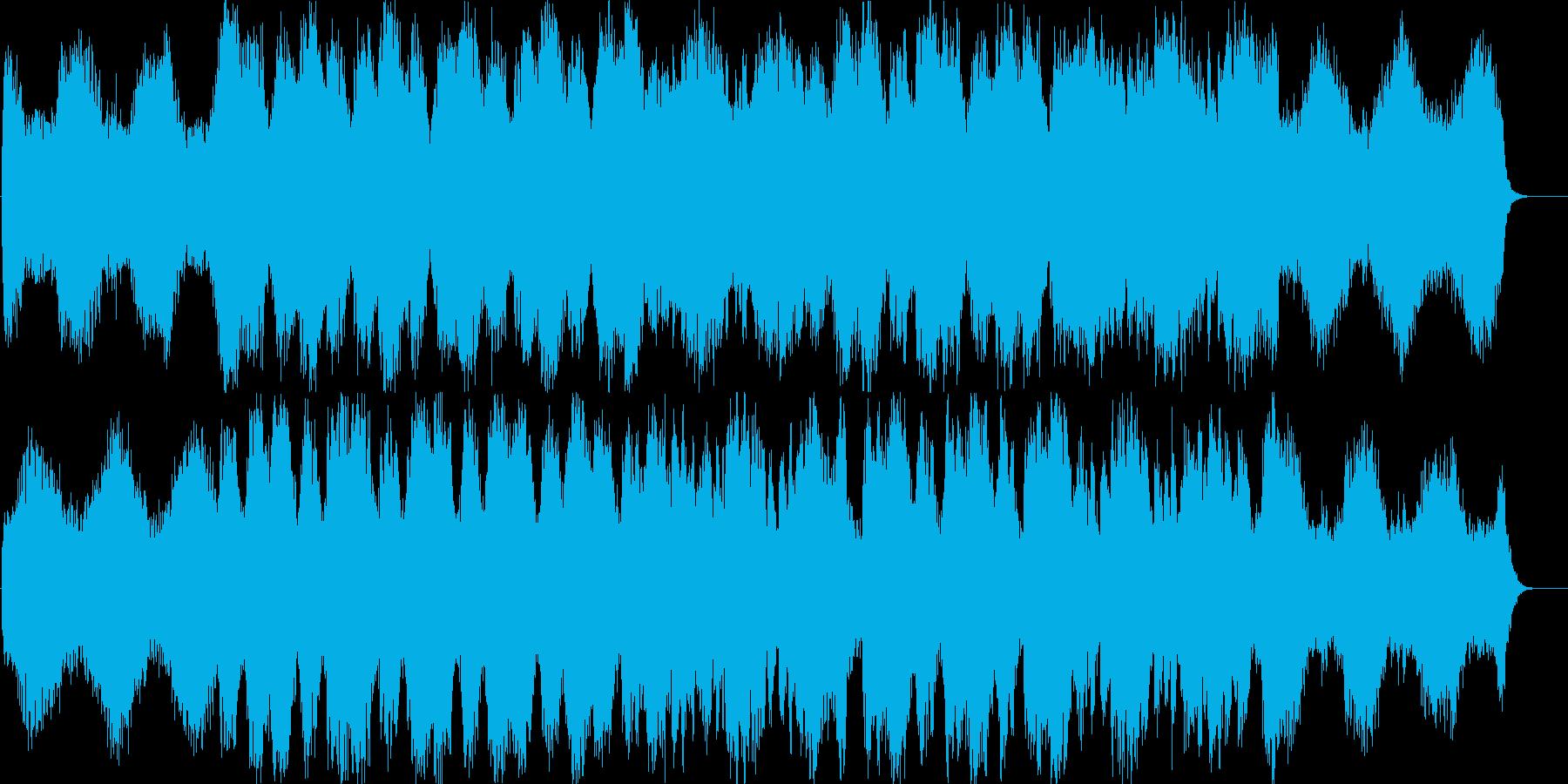 透明のある優しいBGMの再生済みの波形
