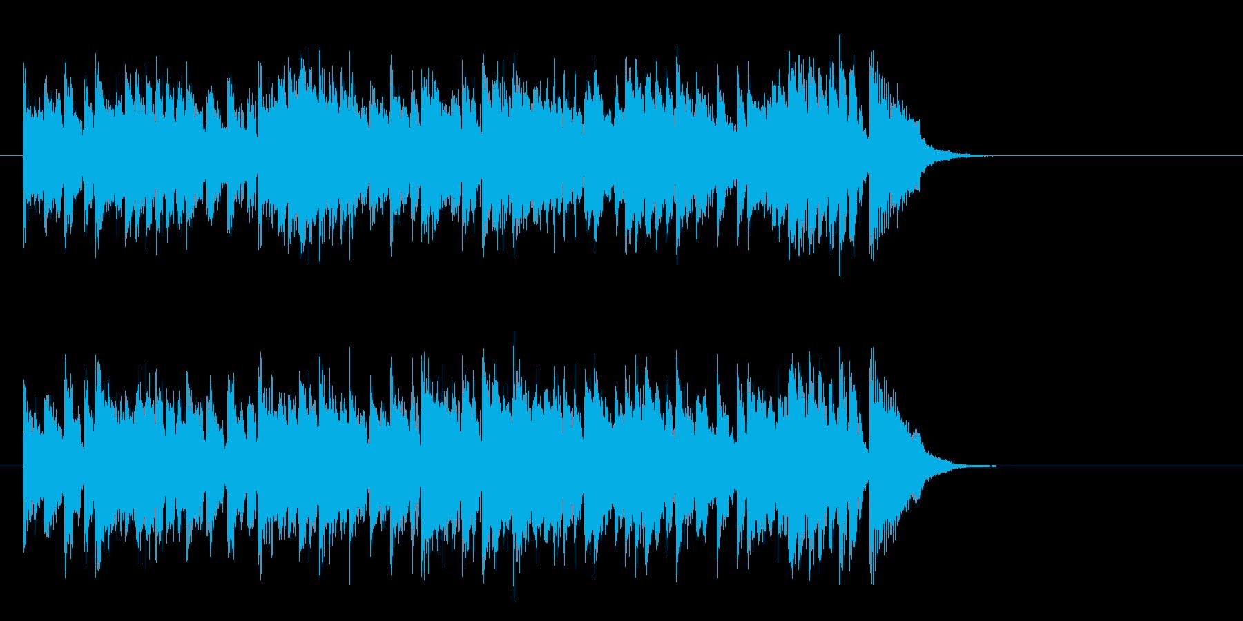 軽快なテーマポップス(サビ)の再生済みの波形