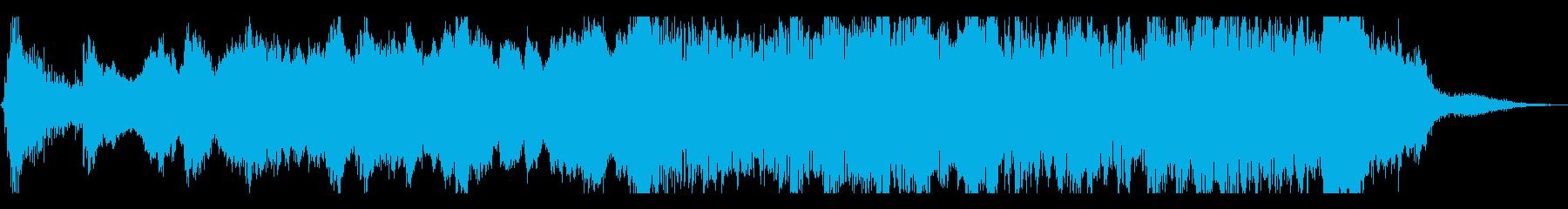 爽やかなアンビエント系BGMの再生済みの波形