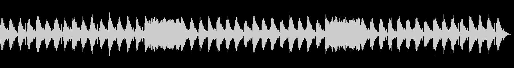 柔らかいサウンドのヒーリング音楽の未再生の波形