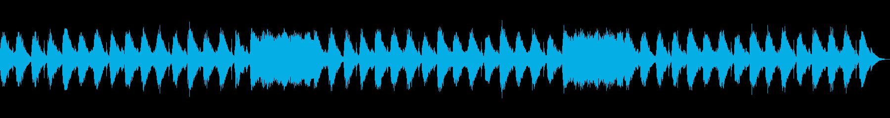 柔らかいサウンドのヒーリング音楽の再生済みの波形