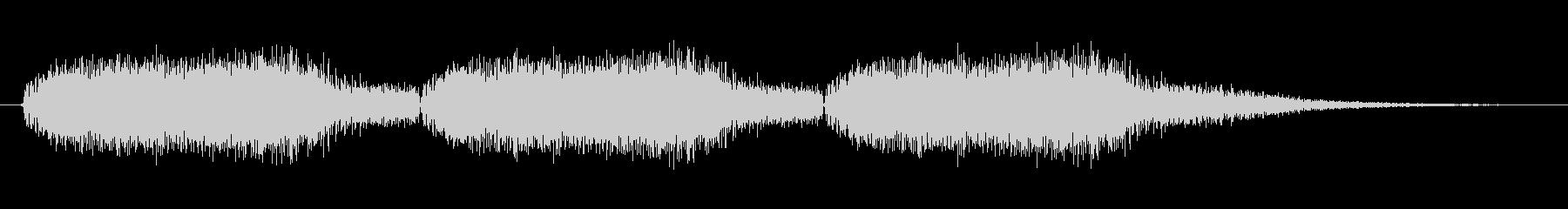 警報の音3回 強烈なブザー/サイレンの未再生の波形
