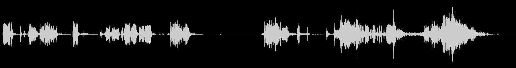 ワイルドザッピングアークとスパークの未再生の波形