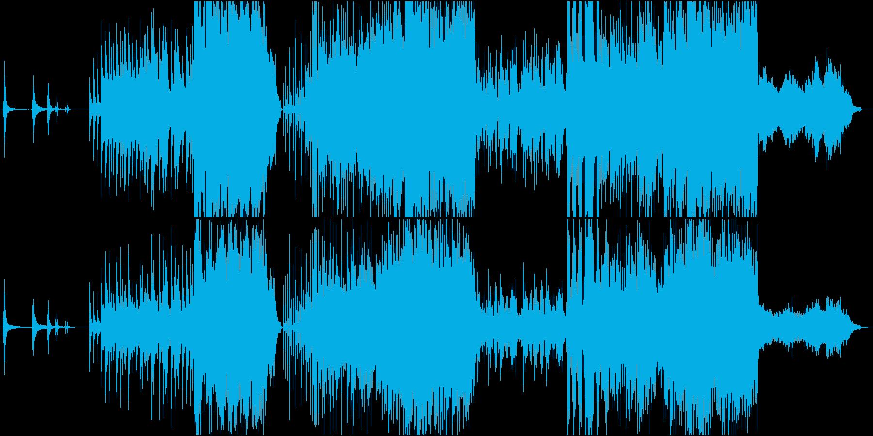 映画的で暗めな和風オーケストラ楽曲の再生済みの波形