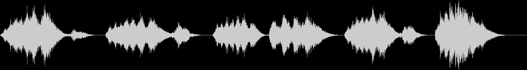 きらきら星 現代ジャズ風 ストリングスの未再生の波形