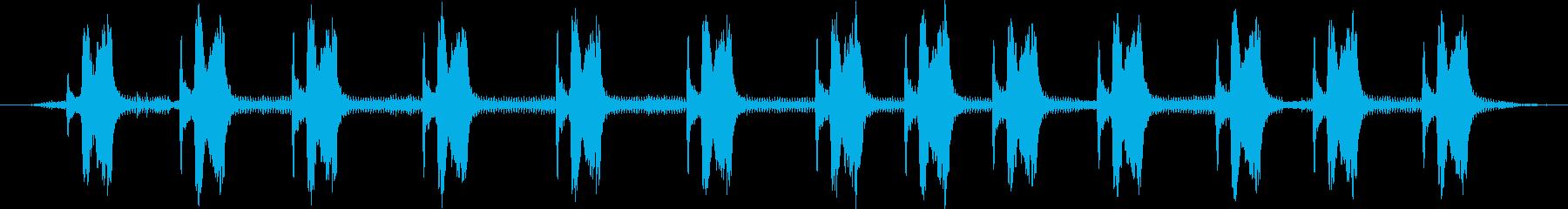 ユカタンヨタカ:呼び出し、鳥の再生済みの波形