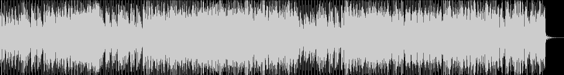 力強いエレクトロBGMの未再生の波形