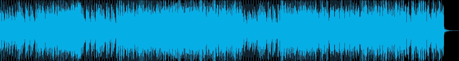 力強いエレクトロBGMの再生済みの波形