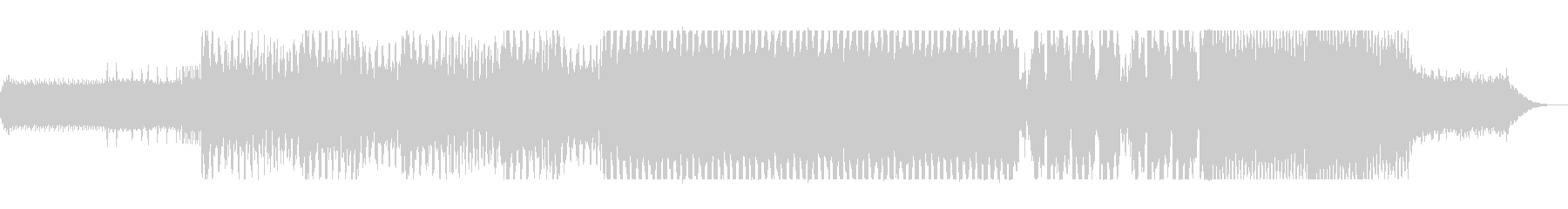 不思議なループ、浮遊感あるテクノの曲の未再生の波形