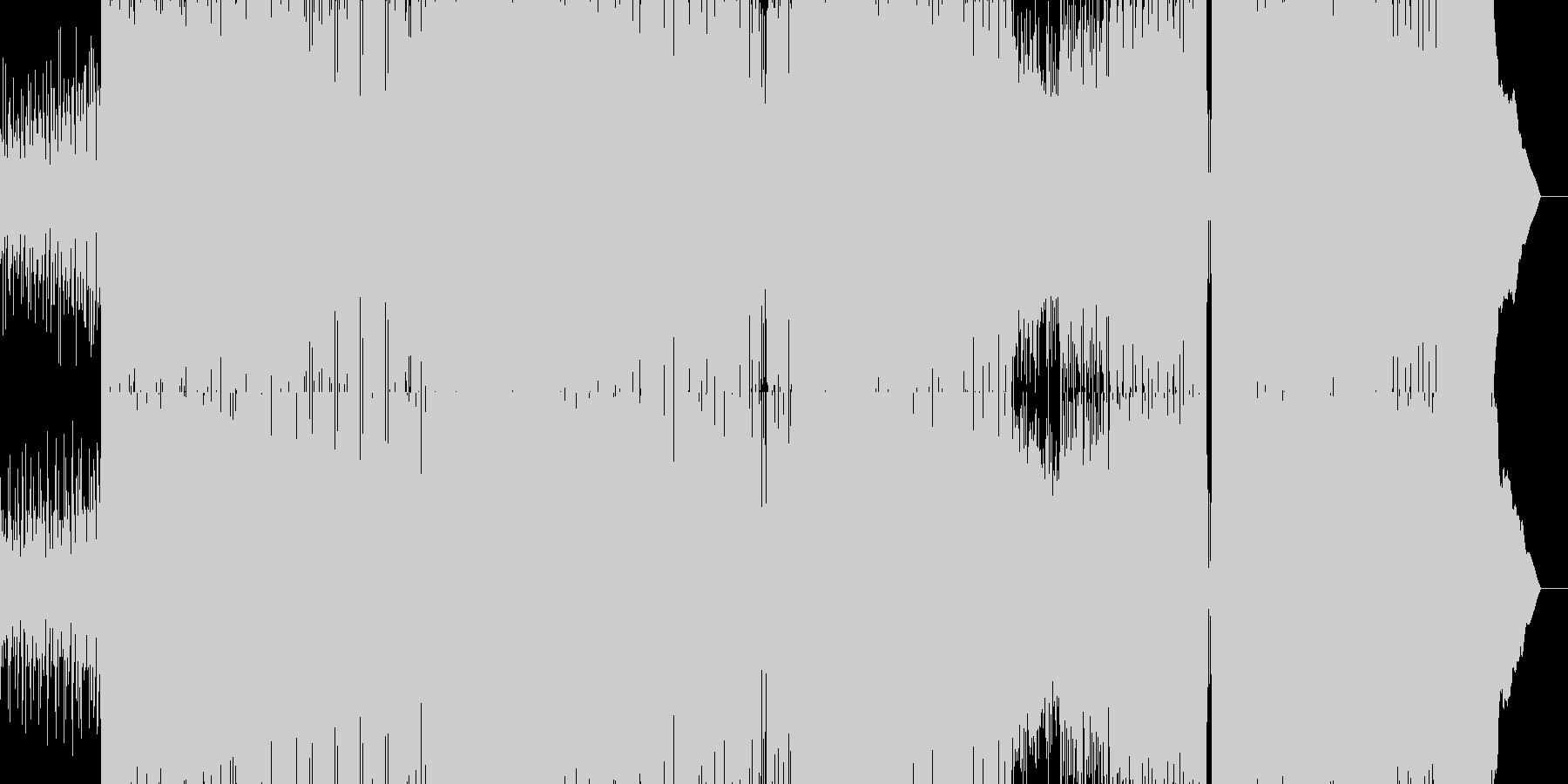 シンセが効いたノれるロックEDMの未再生の波形