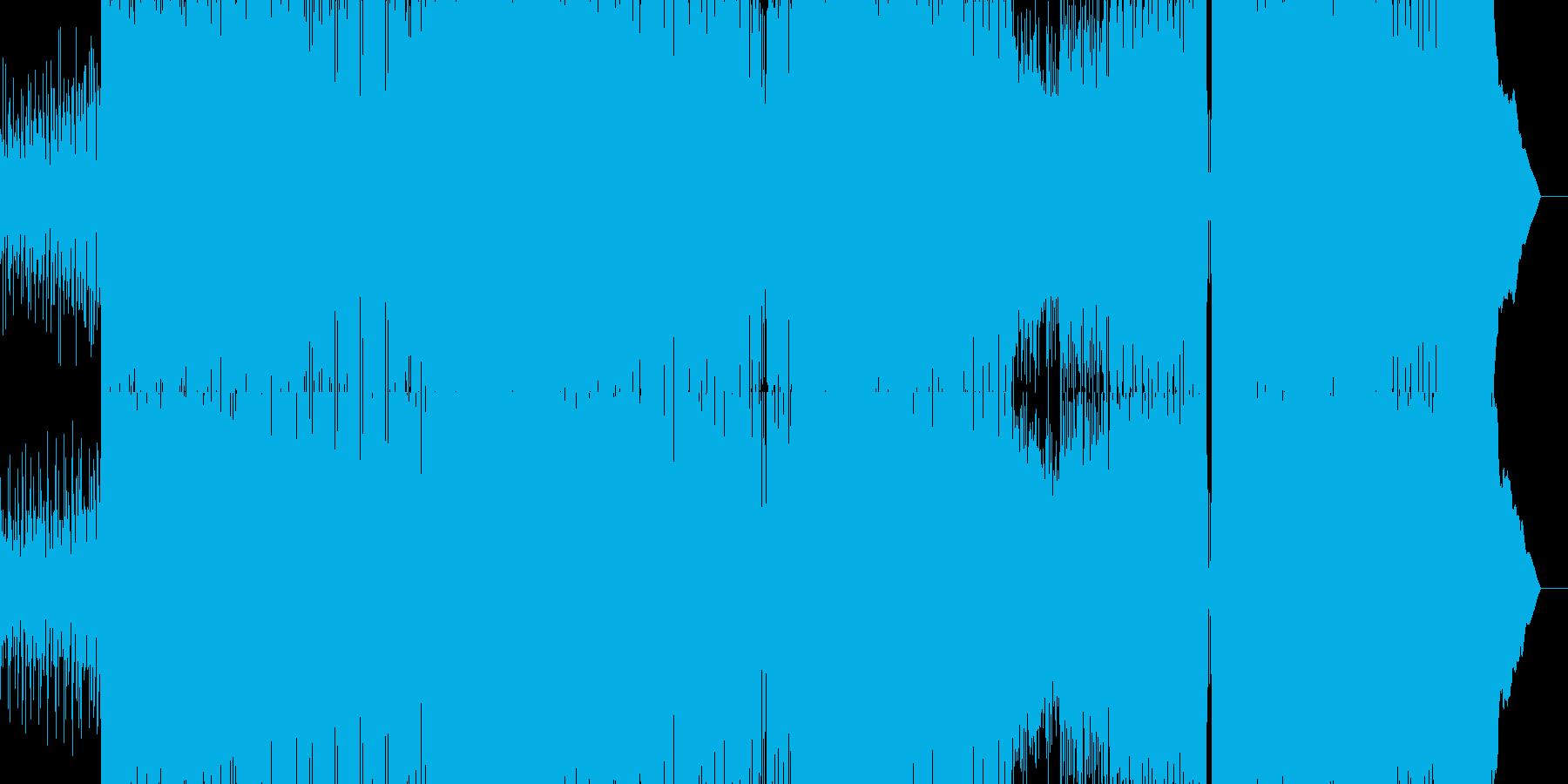 シンセが効いたノれるロックEDMの再生済みの波形
