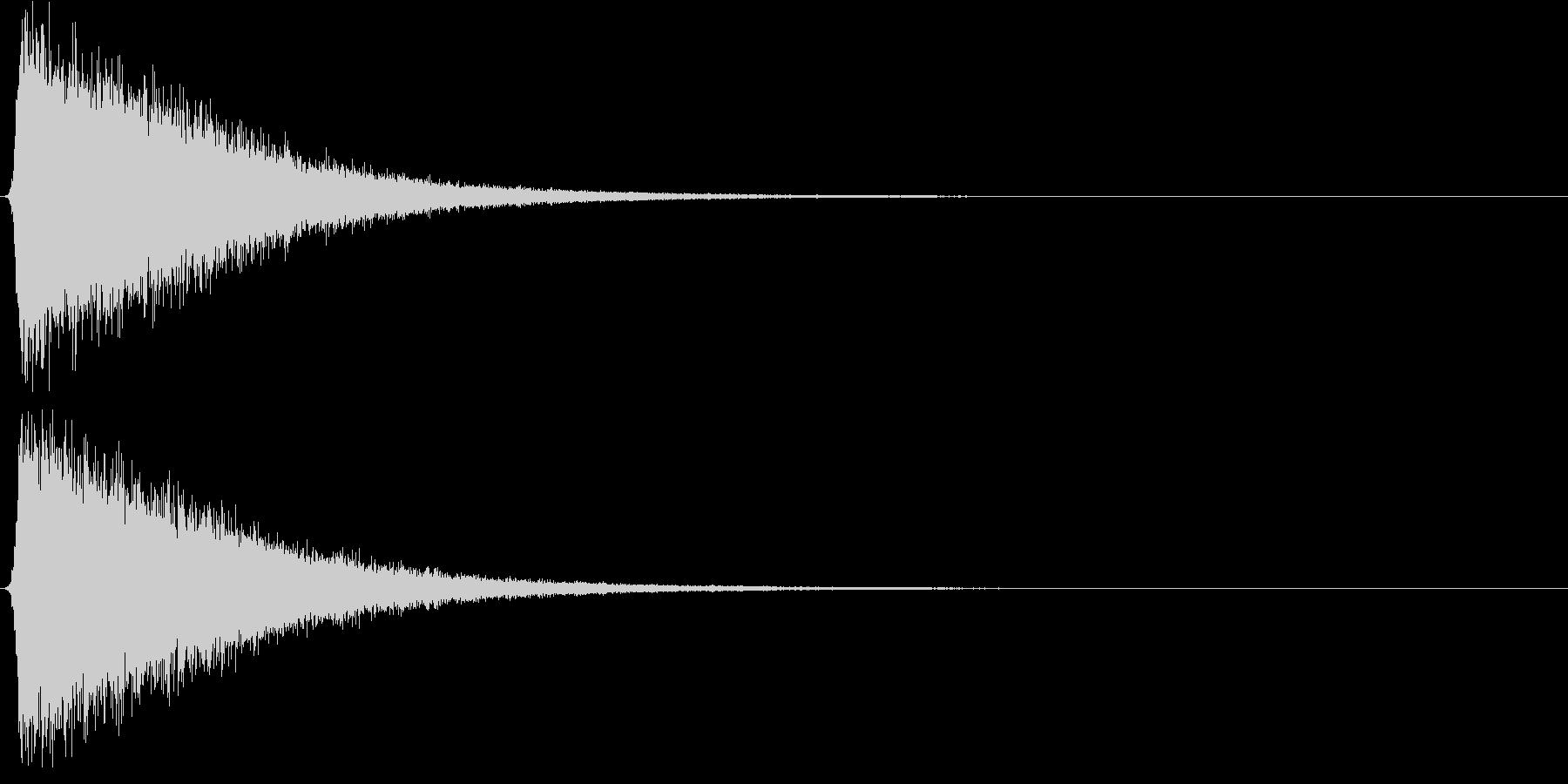 シャー。気づく・思いだす音Dの未再生の波形