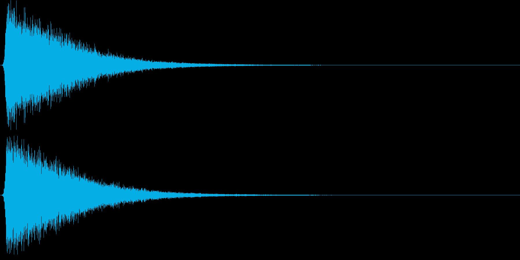 シャー。気づく・思いだす音Dの再生済みの波形