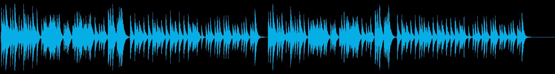 和風、懐石で流れそうな落ち着いた琴Aの再生済みの波形