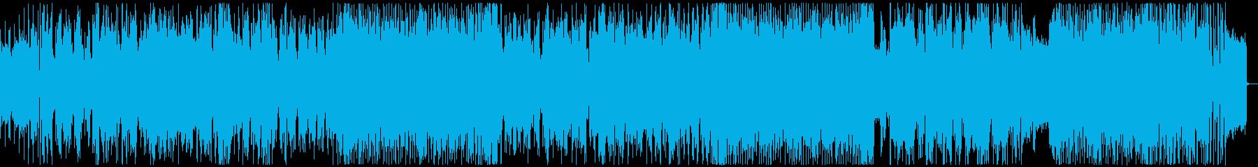 ゆったりと明るいバイオリンのテクノの再生済みの波形