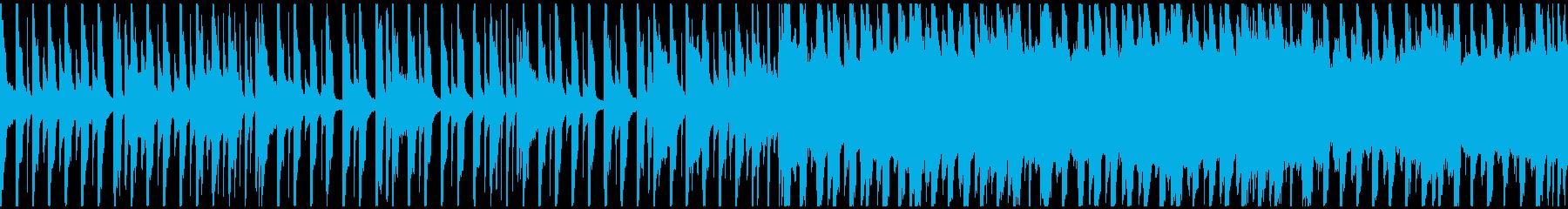 雨降り・カエル・かわいい・ループPOPの再生済みの波形