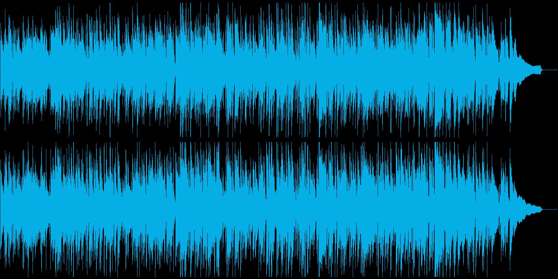すっきり爽やかボサノバ、お洒落なサックスの再生済みの波形