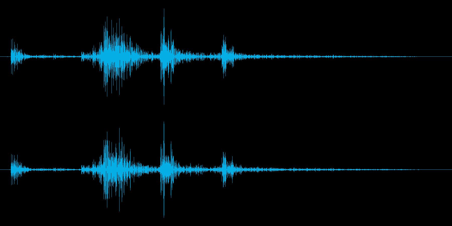 【生録音】パッケージ 開封音 5の再生済みの波形