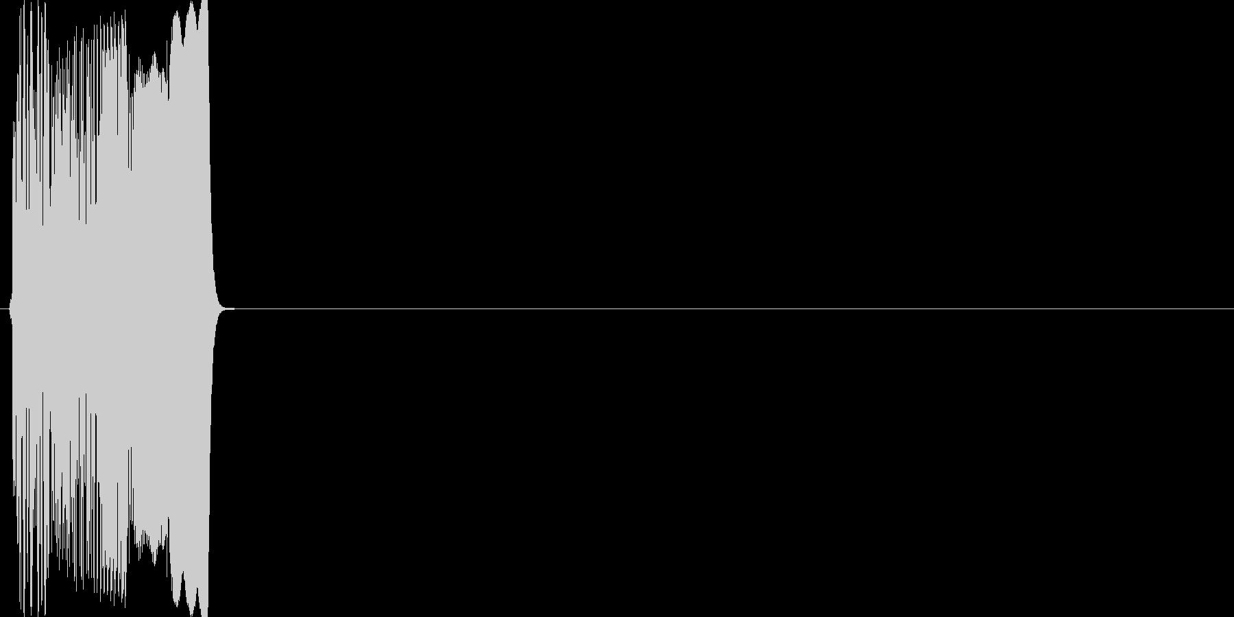 レトロゲームSE_ファミコン_攻撃_01の未再生の波形