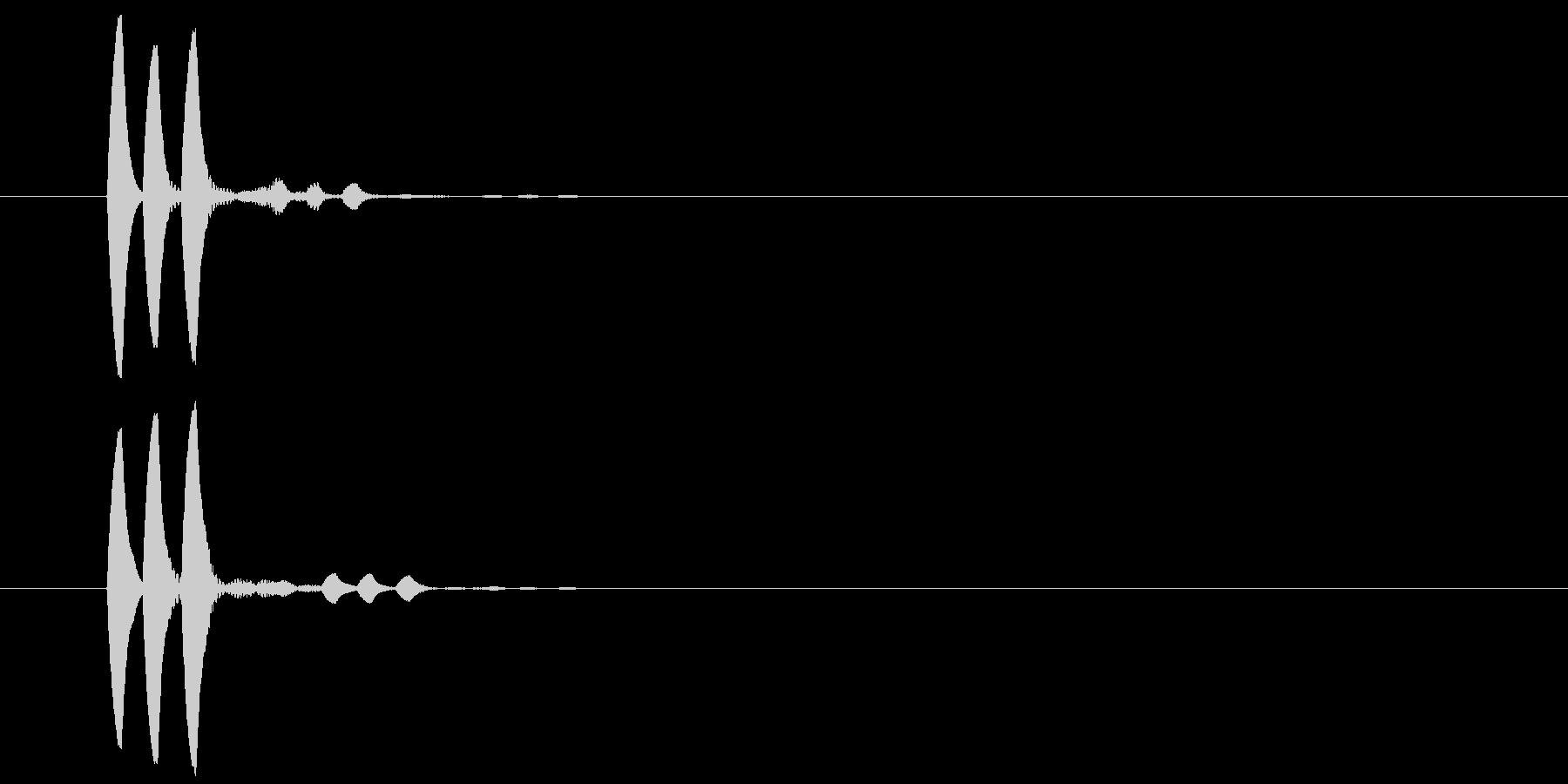 ポポポ(お知らせ・ヒント・アイテム使用)の未再生の波形