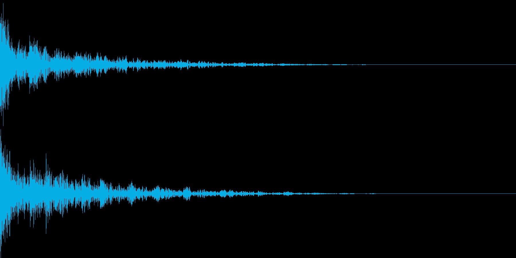 ドーン-44-2(インパクト音)の再生済みの波形