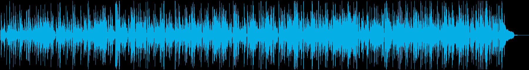 ほのぼのJAZZのBGM トリオ ピアノの再生済みの波形