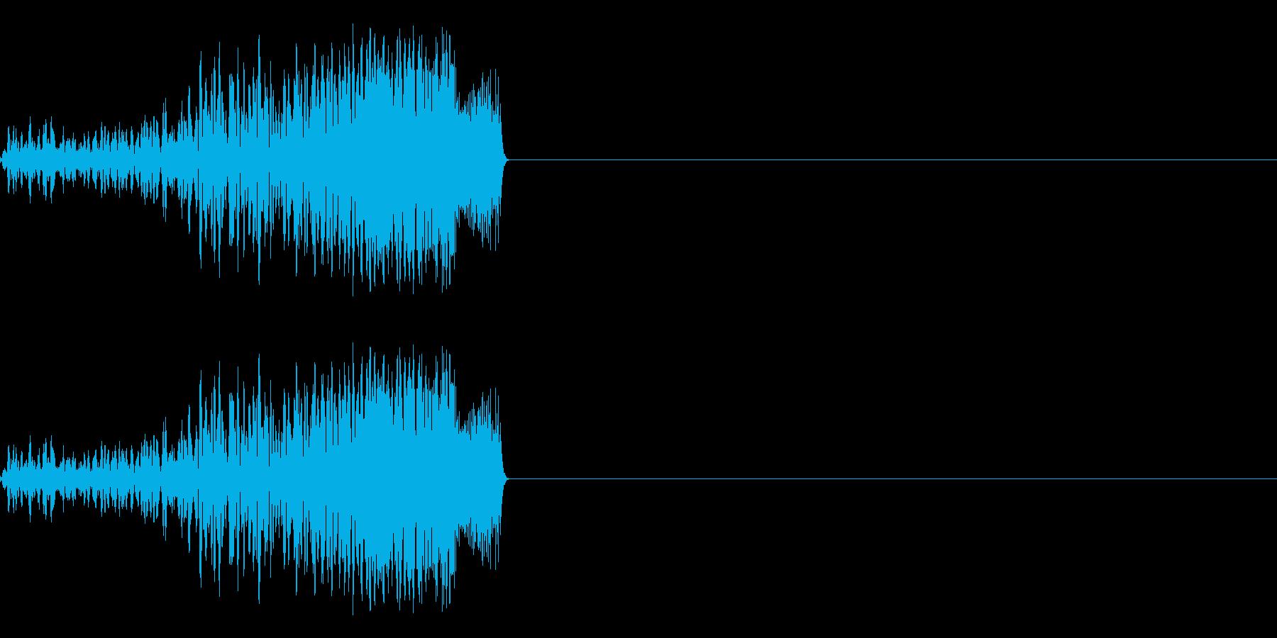 「表示」「テロップ」などのイメージの再生済みの波形