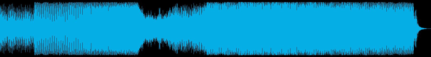 アップテンポなシンセサウンドの再生済みの波形