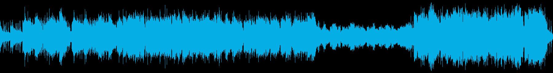 ファンタジーRPG 街や首都の曲の再生済みの波形
