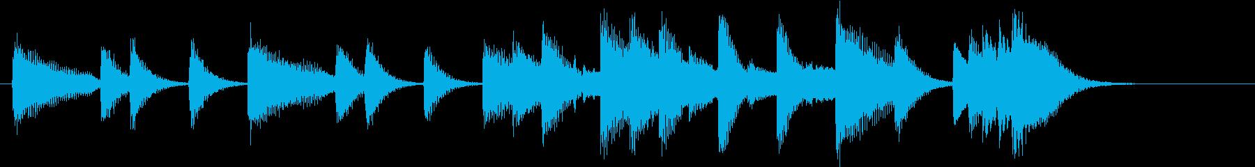 ひいらぎかざろうモチーフピアノジングルEの再生済みの波形