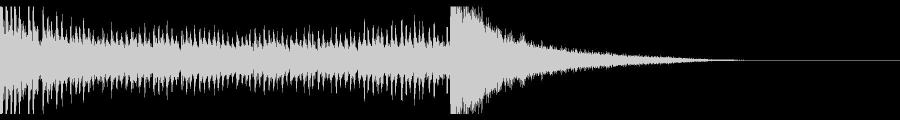 シンプルなドラムロール(8秒)の未再生の波形