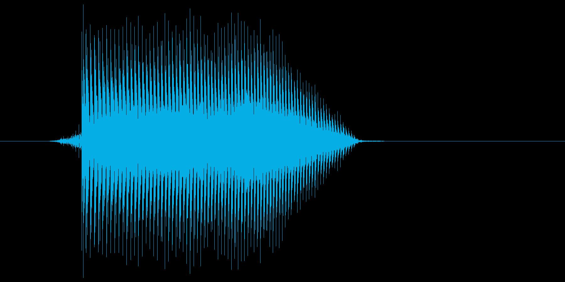 ゲーム(ファミコン風)ジャンプ音_027の再生済みの波形