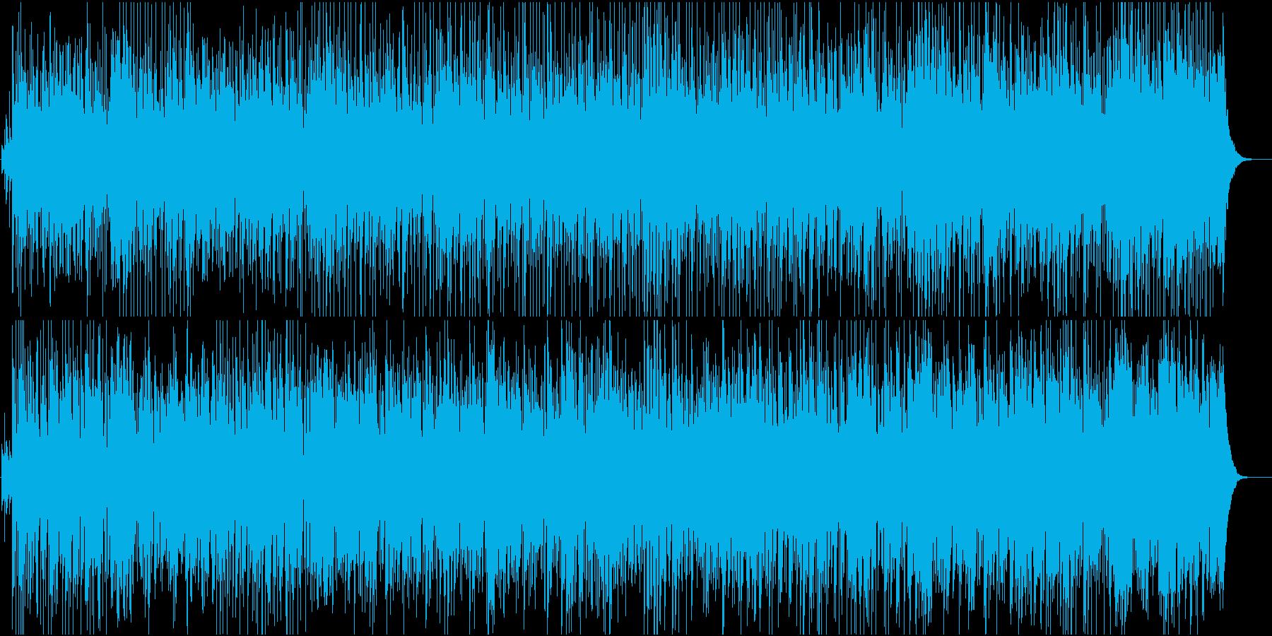 アコースティックギターのラテンジャズの再生済みの波形