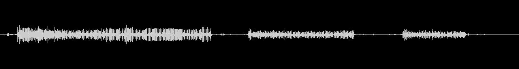 空気ハンマーの未再生の波形