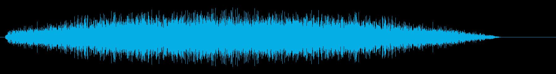 シャーン(シンプルで機械のような効果音)の再生済みの波形
