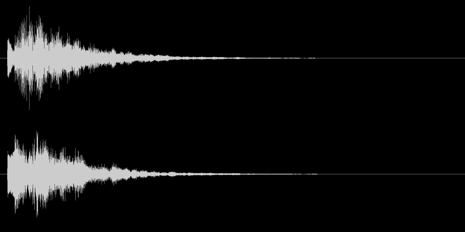 ニュースのテロップをイメージした音02の未再生の波形